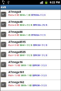 avr-datasheet-android