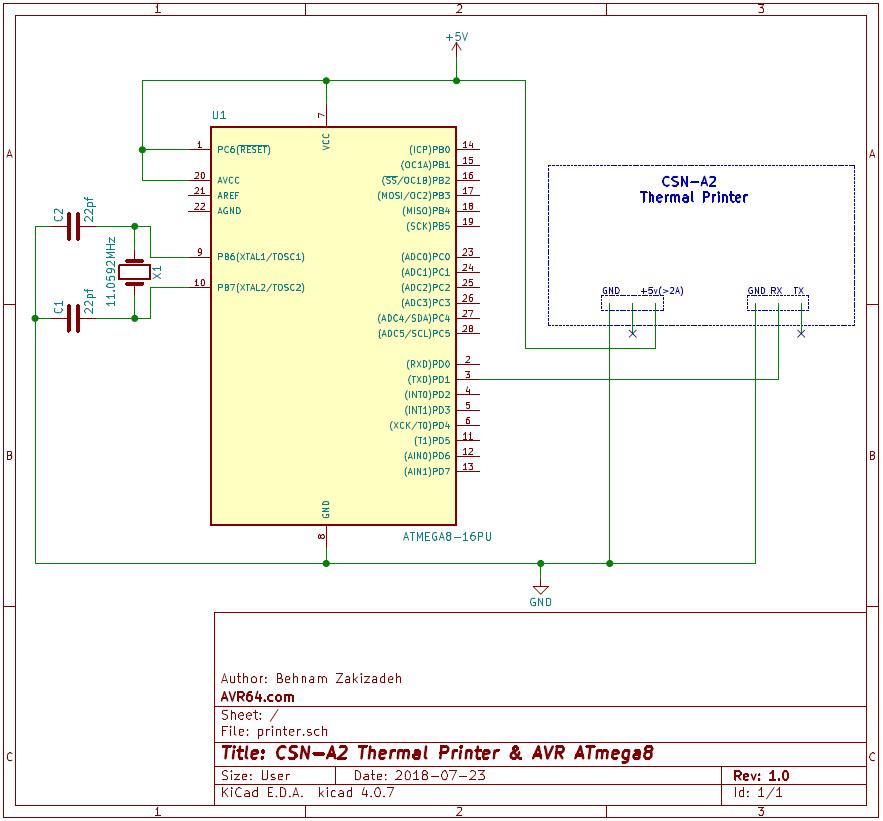 شماتيک پرينتر حرارتي CSN-A2